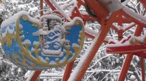 panfilova park in the snow