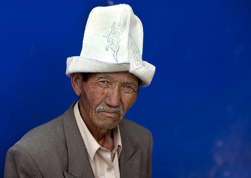 Old Man With Kalpak Hat, Kochkor, Kyrgyzstan